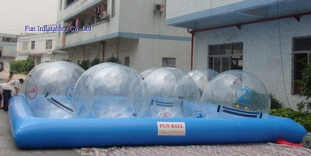 water ball and pool
