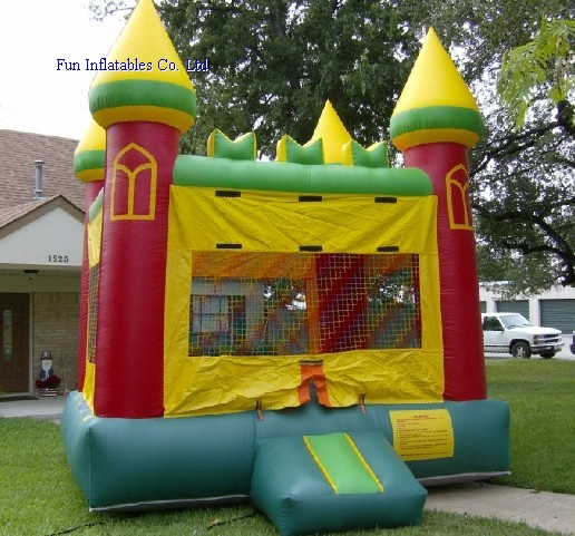 Inflatable backyard castle