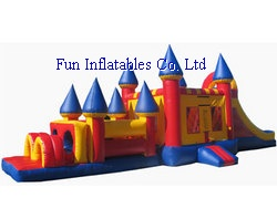 Inflatable obstacle combo