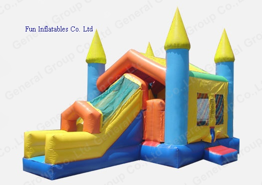 Inflatable combo castle