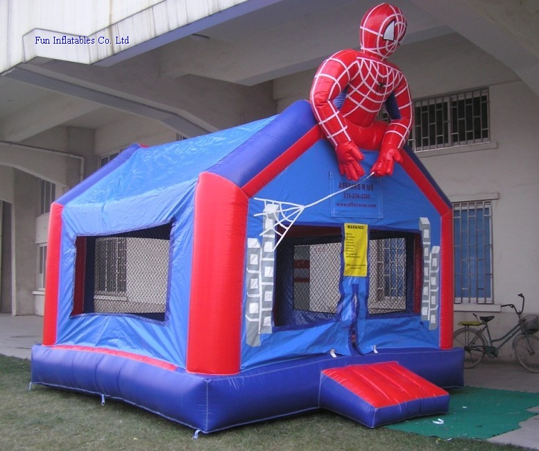 inflatable spider man bouncer