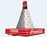 inflatable coca cola climbing wall