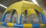 inflatable pool with arch