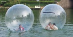 transparent water ball