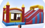 Inflatable jump and slide