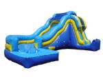 Inflatable combo water slide