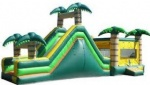 Inflatable jump and slide combo