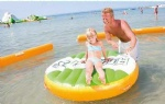 inflatable water plate