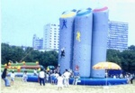 inflatable 5 pillars climbing wall