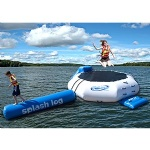 inflatable splash log and trampoline