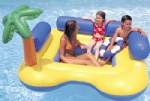 beach fun inflatable island