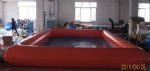 red inflatable pool
