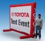 Inflatable advertising screen